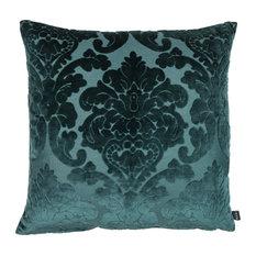 "Eightmood - Chateau Cushion, Dark Petrol, 20""x 20"" - Decorative Pillows"
