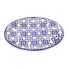 Portugal Gifts Hand-painted Ceramic Large Serving Platter, Tradition Blue