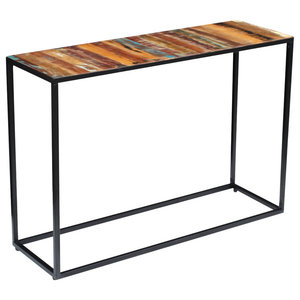 vidaXL Solid Reclaimed Console Table, 110x35x76 cm