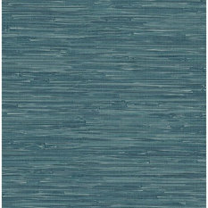 Brewster 2704-22265 For Your Bath III Natalie Teal Faux Grasscloth Wallpaper
