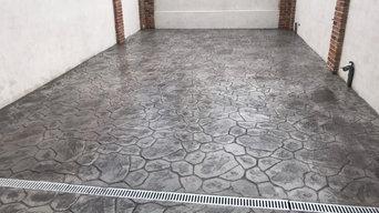 Pavimento de Hormigón Impreso Gris Efecto Piedra