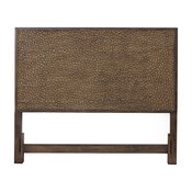 Alpine Furniture Brown Pearl California King Wood Headboard in Brown Bronze