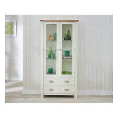 Bonsoni Saddington Display Cabinet Cream