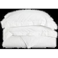 Striped 400-Thread Duvet Cover Set, Long-Staple Cotton, King/Cal King, White