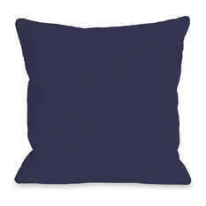 """Solid Color"" Outdoor Throw Pillow by OneBellaCasa, Midnight, 18""x18"""