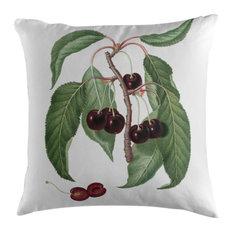 Dark Plum Cherry Botanical Cushion, 45x45 cm