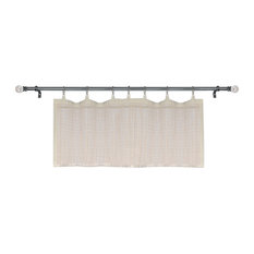 "Bamboo Micro Sheer Panel, 48"" X 12"",Off-White"