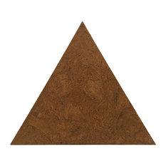 "10.37""x12"" Globus Cork Triangle Tiles, Set of 70, Golden Oak"
