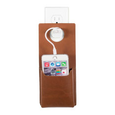 Quick Draw Genuine Leather Charging Holster, Outlet Suspended/Wall Mount, Single