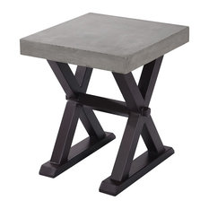 Desert End and Side Tables, Polished Concrete and Rust