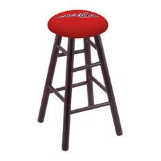 Maple Bar Stool Dark Cherry Finish With Washington Capitals Seat 30-inch
