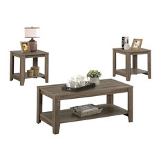 Awesome Monarch   Table Set, 3 Piece Set Dark Taupe   Coffee Table Sets