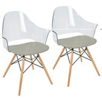 LumiSource - LumiSource Tonic Flair Dining/Accent Chair, Gray, Set Of 2 - Adding LumiSource's Tonic Flair Chair adds a dash of modern style to your seating area. This design is made to be appealing and comfortable. Constructed with flawless acrylic and polycarbonate, this chair will be an interest anywhere it sits.