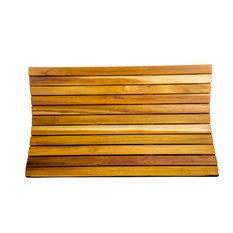 "Ecodecors Teak Shower Bath Floor Mat, Natural Earthy Teak, 31""X18"""
