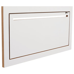 Fläpps Birch Plywood Coat Rack Shelf and Clothes Rail, White