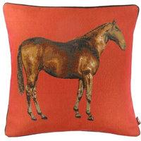 Horse Red 1 European Cushion