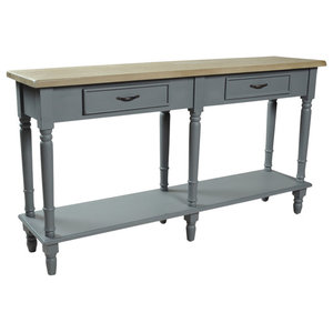 Chateau Storm Grey 2-Drawer Console Table With Shelf