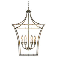 Kenzi Traditional Square Antique Silver Finish Chandelier