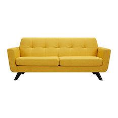 Bon Papaya Yellow Dania Sofa, Black