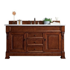 "Brookfield 60"" Vanity, Warm Cherry, Without Top"