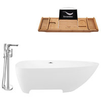 "Streamline Tub Set  67"" Freestanding With H-120-TFMSHCH Faucet"