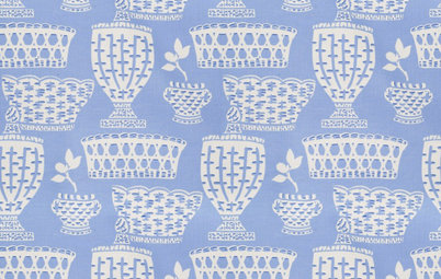 Guest Picks: 20 Cool Blue Printed Fabrics for Interiors
