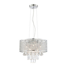 "Mckayla 83.5"" 240W 6 LED Chandelier Chrome Gemcut Crystal"