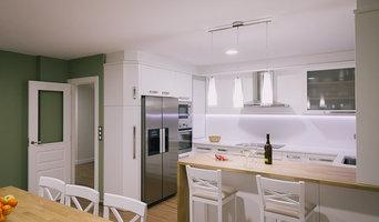cocina lacado blanco combinado roble natural