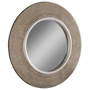 Studded Circular Wall Mirror, 79x79 cm