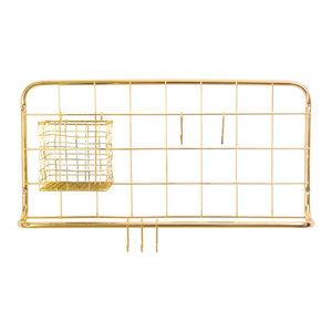 Open Grid Kitchen Rack, Gold