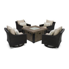 Jordanne Seating Set With Fire Pit, Slate