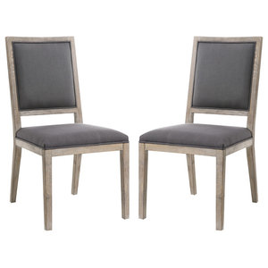 Poly and Bark Rhone Dining Side Chairs, Set of 2, Anchor Grey