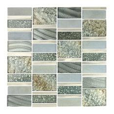 Miseno - Miseno Emperor Glass Visual Wall Tile Sheet, Silver - Wall and Floor Tile