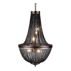 French style chandeliers houzz restoration revolution french empire style chainmail 6 light chandelier dark gray with audiocablefo