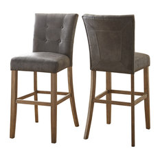 Steve Silver Debby Bar Chair Grey Set of 2 Bar Stools And Counter