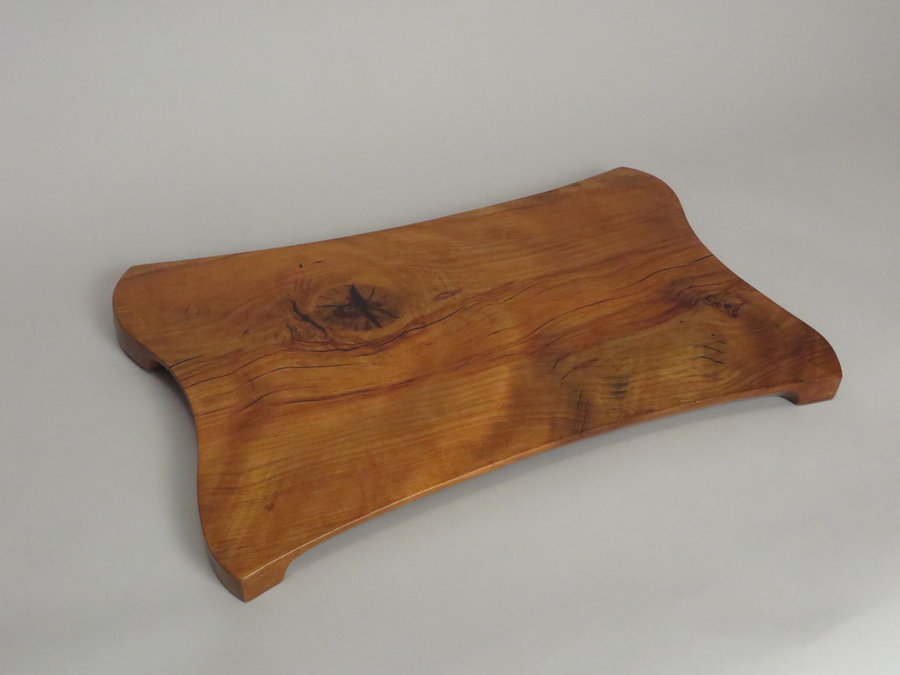 #15035 Hand-Carved Serving Tray. Reclaimed American Beech