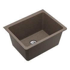 Elkay Quartz Classic Undermount Laundry Sink, Perfect Drain, Greige