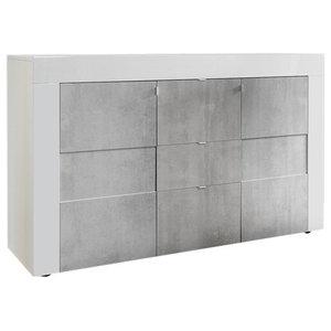 Easy 2-Door II and 3-Drawer High Gloss Sideboard, 138 cm
