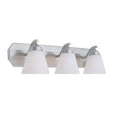 Designers Fountain Piazza 3 Light Bath Bar, Satin Platinum