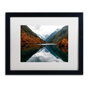 Philippe Hugonnard 'Mirror Lake' Art, Black Frame, White Matte, 20