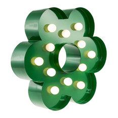 Flower Table Lamp, Green