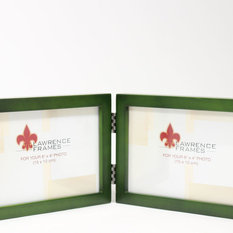 lawrence frames 4x6 hinged double horizontal green wood picture frame gallery collection