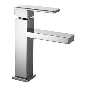 Slim Chrome Bathroom Sink Mixer Tap, Low