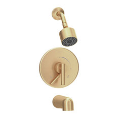 Dia Single Handle Tub and Shower Faucet Trim With Lever Diverter, Brushed Bronze