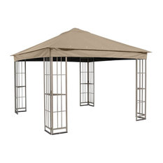 TOPS - Garden Treasures 10'x10' Canopy for S-J-109DN, Taupe - Gazebos
