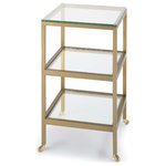 Regina Andrew - Alister Side Table, Brass - The Alister side table represents acutely blends form with function, eliciting contemporary style. With its refined silhouette, it's perfect for placing on either end of a sofa or beside a bed.