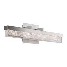 Minx 1 Light Bathroom Vanity Light in Brushed Nickel