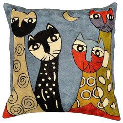 Contemporary Decorative Pillows by Kashmir Fine Arts & Crafts
