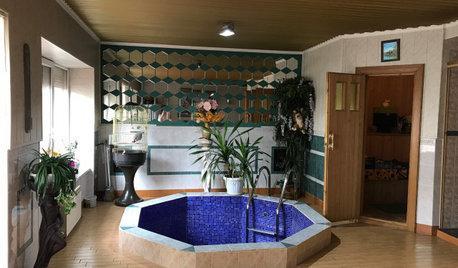 До и после: Превращение старой бани в зону спа в частном доме