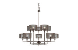 Bennett Russet Ten-Light Chandelier